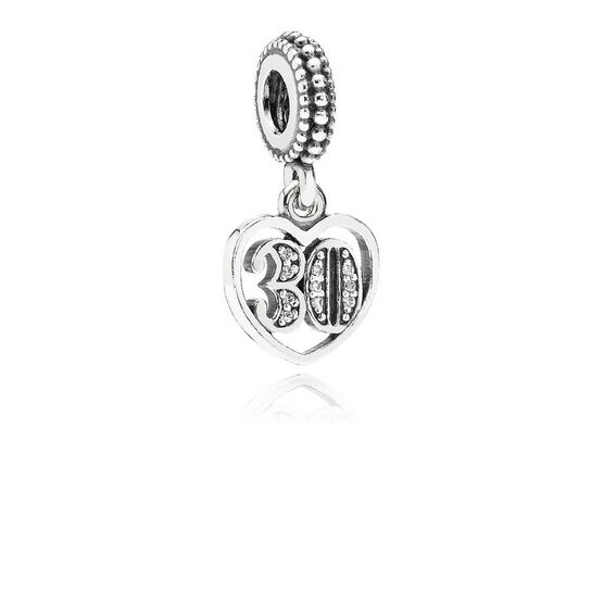 PANDORA 30 Years of Love CZ Charm