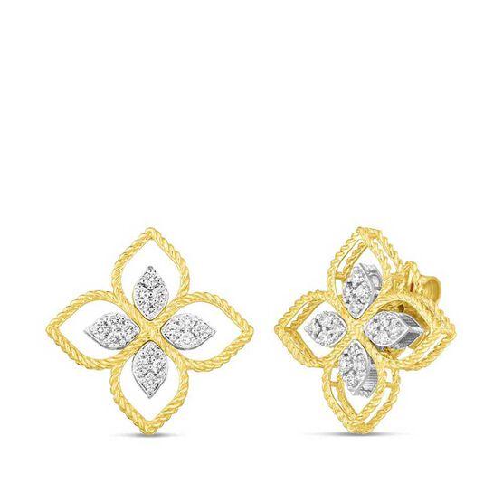 Roberto Coin Principessa Large Diamond Flower Earrings 18K