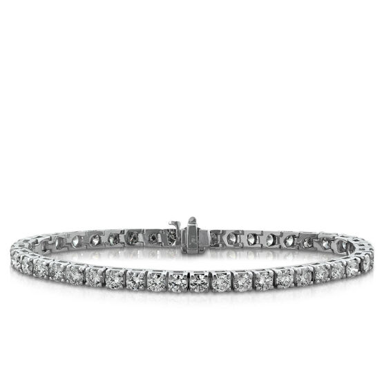 Diamond Line Bracelet, 14K , 7 & 7/8 ctw.