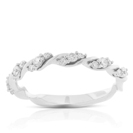 Twisted Diamond Cluster Band 14K