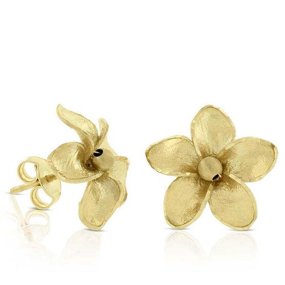 Toscano Flower Stud Earrings 14K