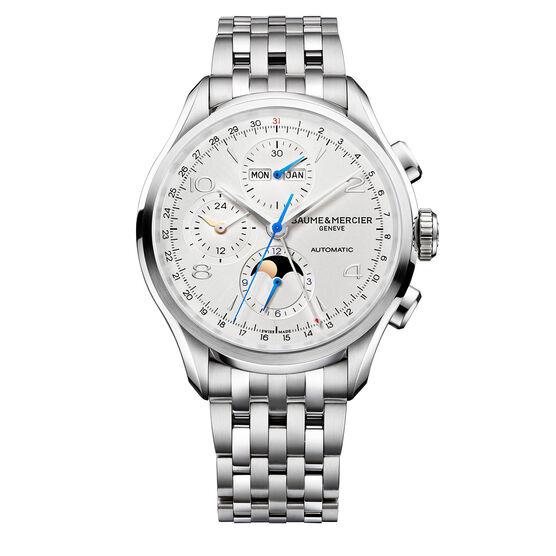 baume mercier clifton auto chrono watch 10328 memo ben bridge jeweler. Black Bedroom Furniture Sets. Home Design Ideas