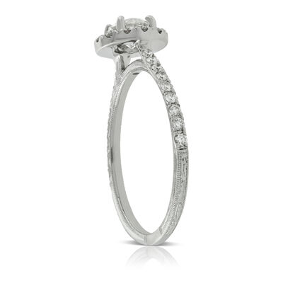 Halo Diamond Engagement Ring 14K
