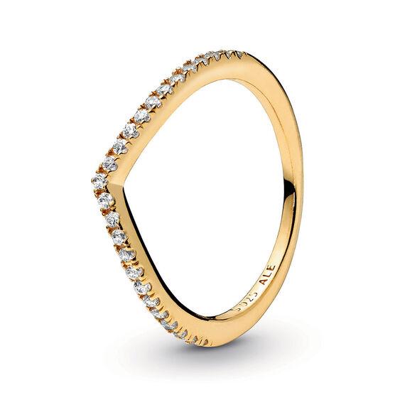 Pandora Shine™ Sparkling Wishbone CZ Ring