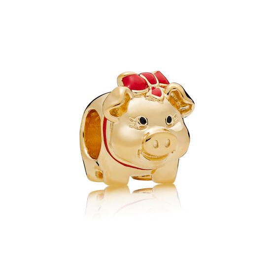 Pandora Piggy Bank Enamel Charm, Pandora Shine™