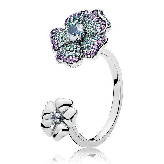 PANDORA Glorious Blooms Multi-Color Crystal Ring