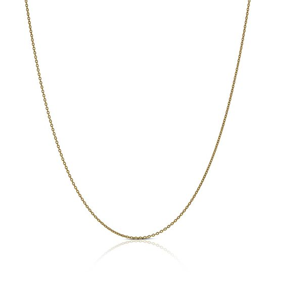 """Rose Gold Rolo Chain 14K, 18"""""""