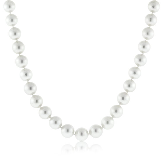Cultured White South Sea Pearl Strand 14K