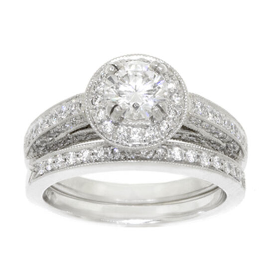 Ben Bridge Signature Diamond™ Bridal Set in Platinum