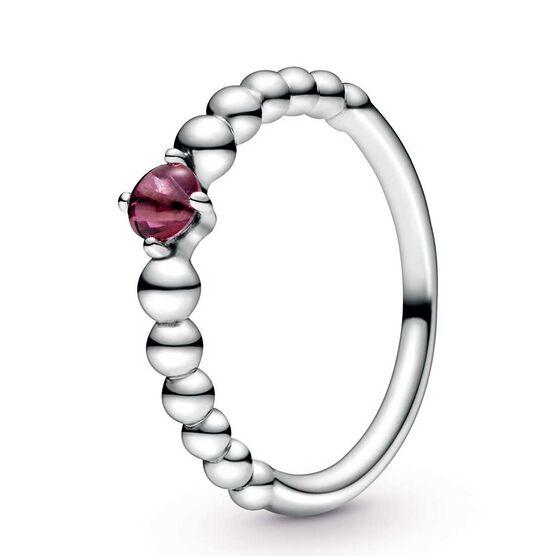 Pandora Purely Pandora Blazing Red Topaz Beaded Ring