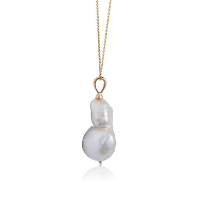"""Baroque Freshwater Cultured Pearl Necklace 14K, 24"""""""