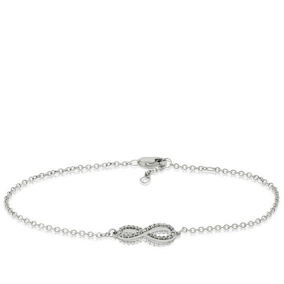 Diamond Infinity Bracelet 14K