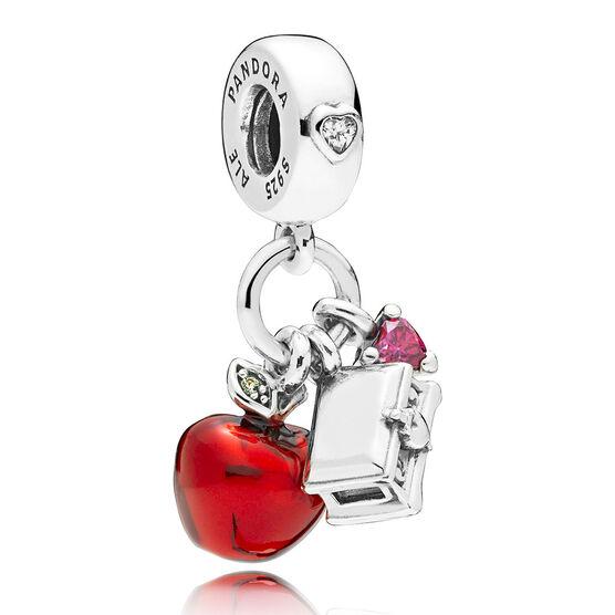 Pandora Disney, Snow White's Apple & Heart Dangle Charm