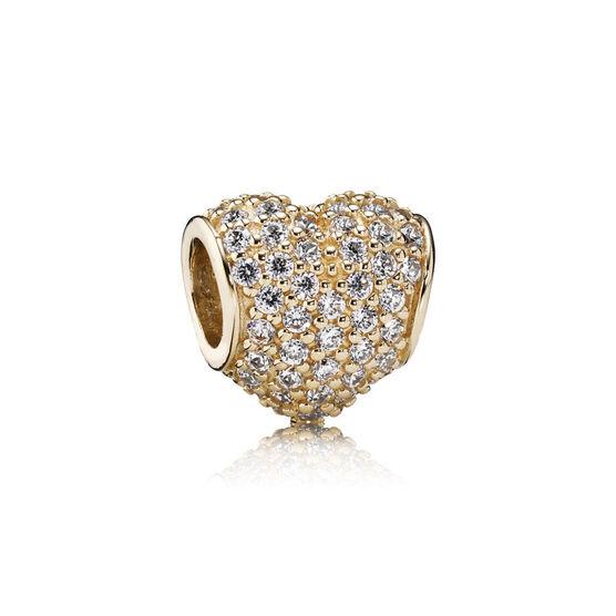Pandora Pavé Heart Charm 14K