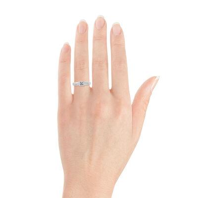 Ikuma Canadian Princess Cut Diamond Solitaire Ring 14K, 3/4 ct.