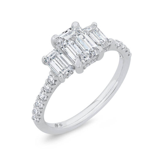 Bella Ponte 3-Stone Diamond Engagement Ring Setting 14K