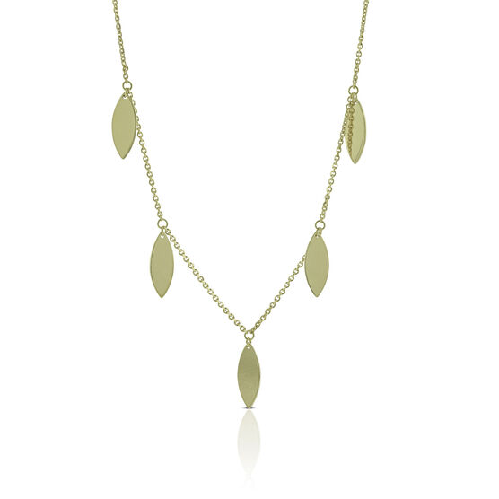 Tear Drop Stations Necklace 14K