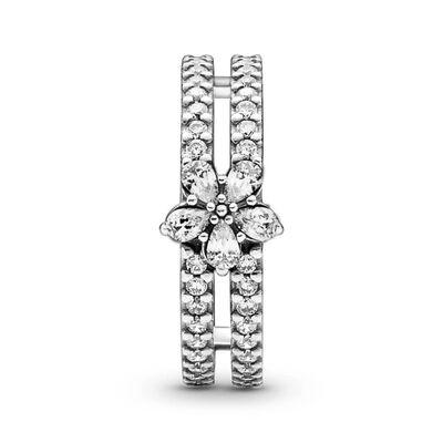 Pandora Sparkling Snowflake CZ Double Ring