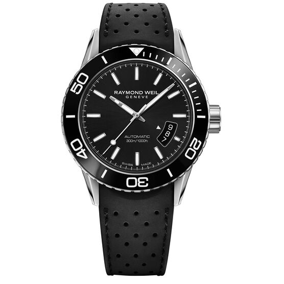 Raymond Weil Automatic Freelander Rubber Strap Watch, 42.5mm