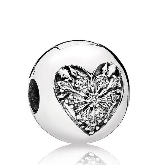 Pandora Heart of Winter CZ Clip Charm