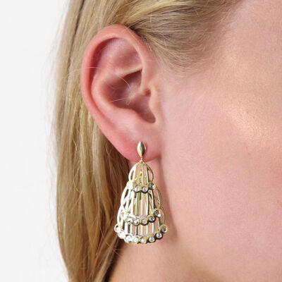 Toscano 3-Tier Drop Earrings 14K
