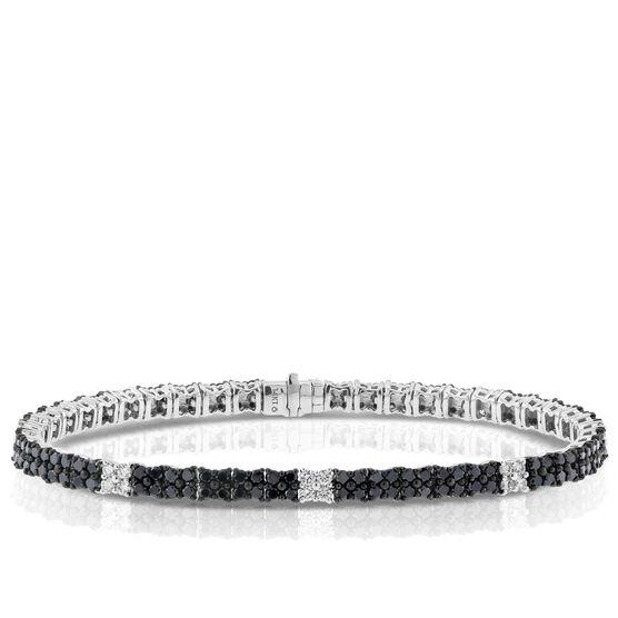 Black & White Diamond Bracelet, 14K