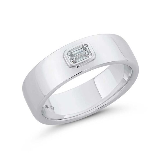 Bella Ponte Gents Diamond Band in Platinum