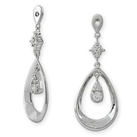 Diamond Dangle Earring Jackets 14K