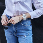 G-Shock White & Silver Detailed Octagon Bezel Watch, 46.2mm
