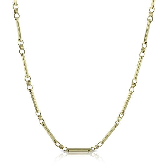 Toscano Circle Bar Necklace 18K