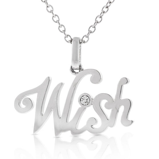 Wish Diamond Pendant in Sterling Silver