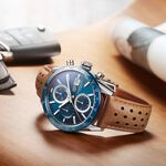 TAG Heuer Carrera Calibre 16 Automatic Mens Blue Leather Chronograph Watch