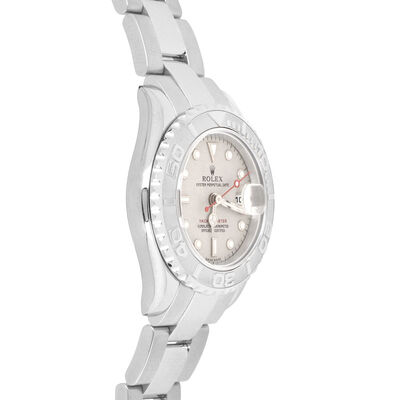Pre-Owned Rolex Oyster Perpetual Lady-Yachtmaster Watch, 29mm, Platinum & Steel