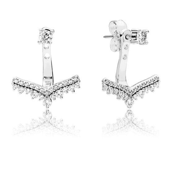 Pandora Princess Wish CZ Earrings / Jackets