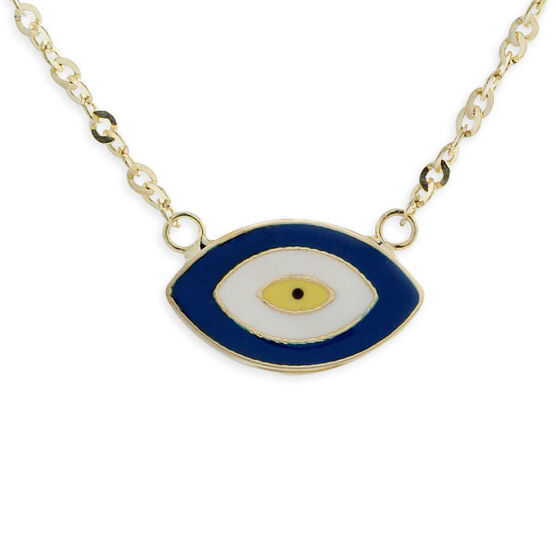 Eye of Protection Necklace 14K