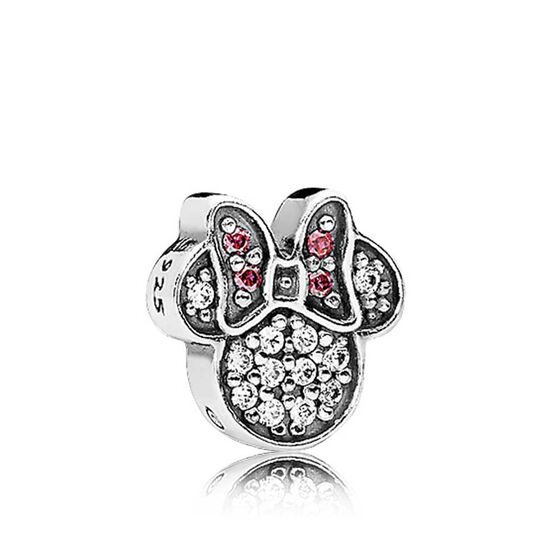 Pandora Disney, Sparkling Minnie Icon Crystal Petite Locket Charm