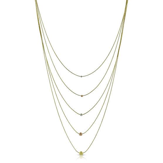 Toscano Sparkle Bib Necklace 14K
