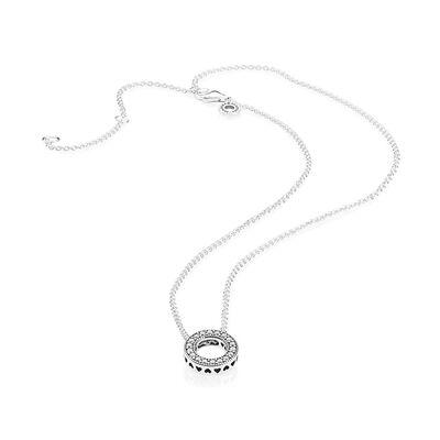 Pandora Hearts of Pandora CZ Necklace