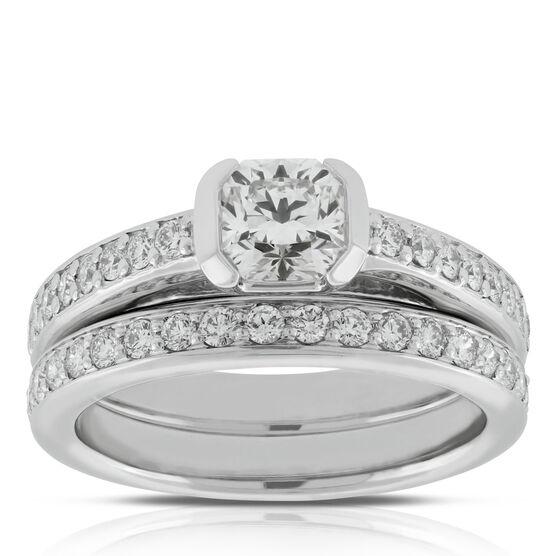 Signature Forevermark Black Label Square Diamond Bridal Set 18K
