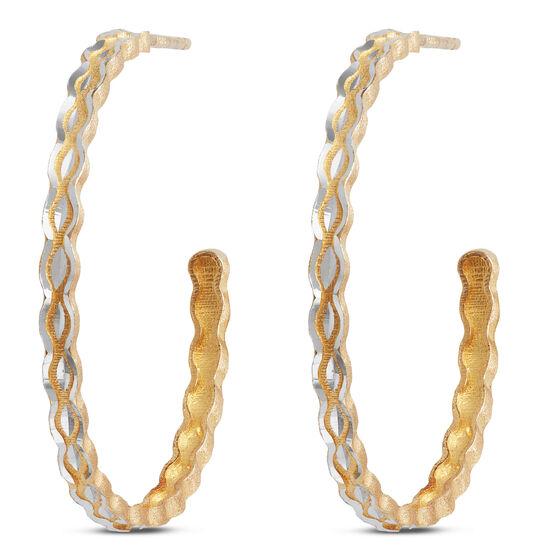 Toscano Hoop Earrings 14K