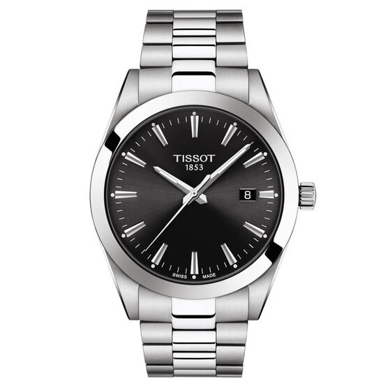 Tissot Gentleman Black Dial Watch, 40mm
