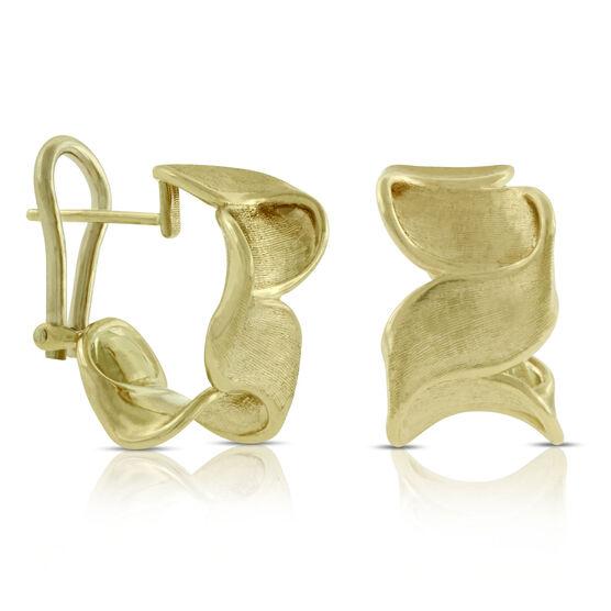 Toscano Spiral Ribbon Earrings 14K