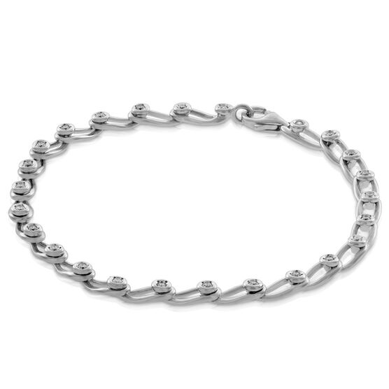 Diamond Bracelet in Sterling Silver