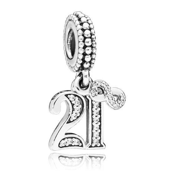 Pandora 21 Years of Love CZ Dangle Charm