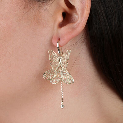 Filigree Butterfly Earrings 14K
