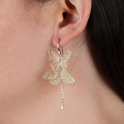 Filigree Butterfly Earrings 14K