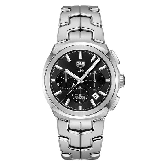 TAG Heuer Link Caliber 17 Automatic Chronograph Black Dial Watch