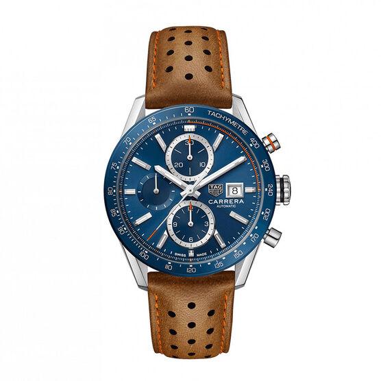 TAG Heuer Carrera Calibre 16 Blue Dial Watch, 41mm