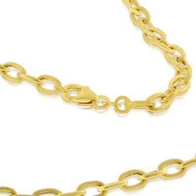 Oval Link Necklace 14K