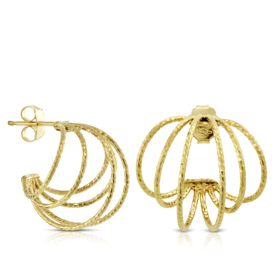Toscano Wire Hoop Earrings 18K